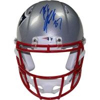 Rob Gronkowski Signed Patriots Super Bowl XLIX Full-Size Authentic Pro-Line Speed Helmet (Steiner COA)