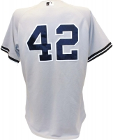 Mariano Rivera New York Yankees 2011 Game Used #42 Grey Jersey (8/7/2011) (Steiner LOA & MLB)