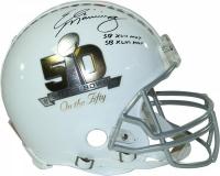 "Eli Manning Signed LE ""Super Bowl On the Fifty"" Full-Size Authentic Pro-Line Helmet Inscribed ""SB XLII MVP"" & ""SBXLVI MVP"" (Steiner COA)"