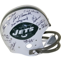 1969 Jets Throwback Full-Size Helmet Team-Signed by (24) with Joe Namath, Emerson Boozer, Matt Snell, Don Maynard, Pete Lammons, Dave Herman (Steiner COA)