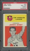 1961-62 Fleer #43 Jerry West RC (PSA 8) (MC)