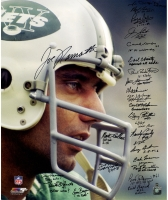 "1969 Jets ""Joe Namath Close Up"" 20x24 Photo Team-Signed by (24) with Joe Namath, Emerson Boozer, Bob Talamini, John Dockery (Steiner COA)"