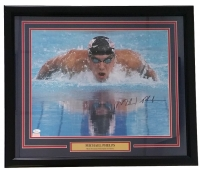 "Michael Phelps Signed Team USA 22""x26"" Custom Framed Photo Display (JSA COA) at PristineAuction.com"
