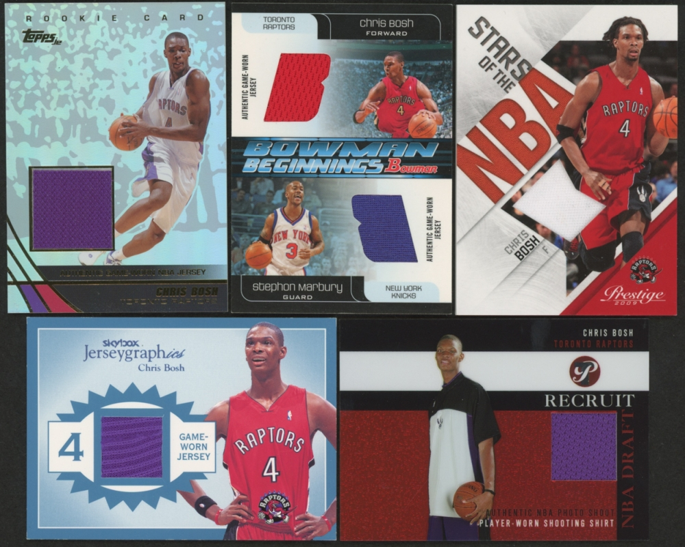 ccce1908f Lot of (5) Chris Bosh Game-Used Memorabilia Relic Insert Cards