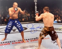 Royce Gracie Signed 16x20 Photo vs Matt Hughes (PSA COA)