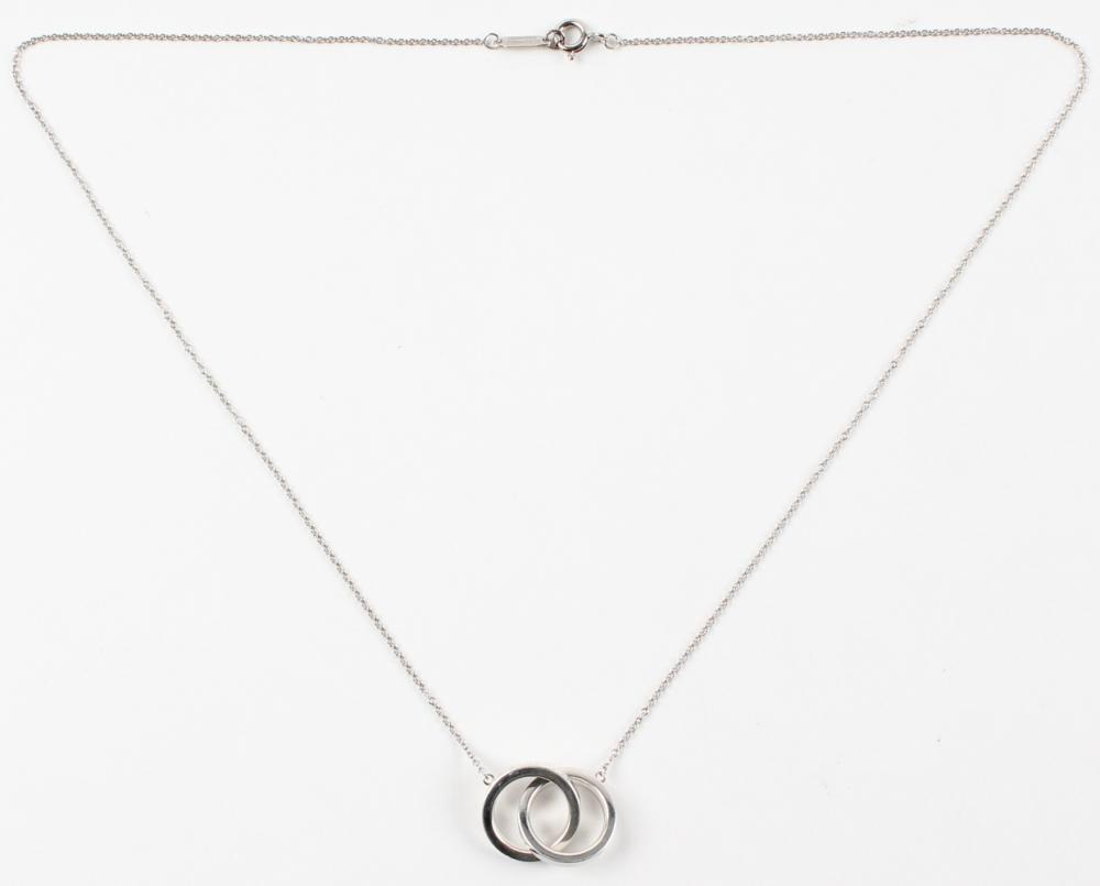Online sports memorabilia auction pristine auction tiffany co interlocking circles pendant necklace at pristineauction aloadofball Gallery