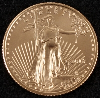 2016 1/10 oz Gold American Eagle $5 Coin at PristineAuction.com