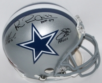 "Emmitt Smith, Troy Aikman & Michael Irvin Signed Cowboys Full-Size Authentic Pro-Line Helmet Inscribed ""HOF 06"", ""HOF 07"", & ""HOF 2010"" (Aikman, Smith & Irvin Holograms)"