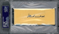 "Muhammad Ali Signed ""Ali vs. Frazier"" Unused Remote Viewing Ticket (PSA Encapsulated) at PristineAuction.com"