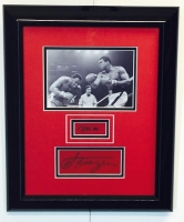 Muhammad Ali & Joe Frazier Signed 14x17 Custom Framed Display (JSA LOA)