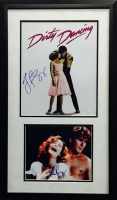 "Patrick Swayze & Jennifer Grey Signed ""Dirty Dancing"" 17"" x 28"" Custom Framed Photo Display (JSA COA)"