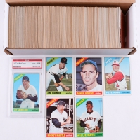 1966 Topps Near Complete Set of (516) Baseball Cards with #1 Willie Mays, #30 Pete Rose, #50 Mickey Mantle, #100 Sandy Koufax, #126 Jim Palmer, (1) #395 Len Gabrielson (PSA 8)