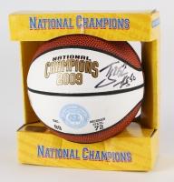 Tyler Hansbrough Signed 2009 North Carolina Tar Heels National Championship Mini Basketball (Legends COA)