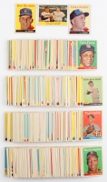 1958 Topps Partial Set of (395/494) Baseball Cards with #88 Duke Snider, #25 Don Drysdale, #436 Rival Fence Busters / Willie Mays / Duke Snider