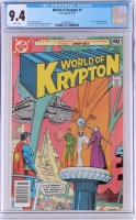 "Vintage 1979 ""World of Krypton"" Issue #1 DC Comic Book (CGC 9.4)"
