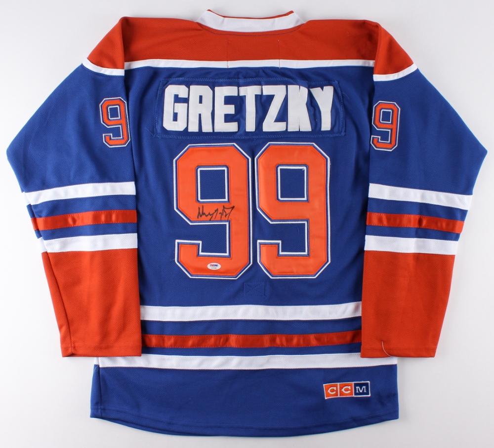 Wayne Gretzky Signed Oilers Captain Jersey (PSA LOA) at PristineAuction.com 38b281e96