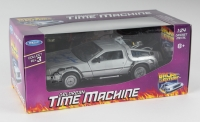 "Christopher Lloyd Signed ""Back to the Future II"" DeLorean Time Machine 1:24 Diecast Car (PSA COA)"
