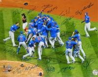 2016 Chicago Cubs Team Signed Chicago Cubs 2016 World Series Celebration 16x20 Photo (23 Sigs) at PristineAuction.com