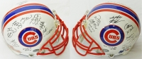 2016 Chicago Cubs Team Signed Cubs White Matte Authentic Football Helmet w/7 Inscriptions (22 Sigs) at PristineAuction.com