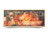 "Michael Jordan Signed Chicago Bulls ""Legend"" 11x26 Limited Edition Bamboo Print (UDA COA)"