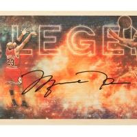 "Michael Jordan Signed Bulls ""Legend"" LE 11x26 Bamboo Print (UDA COA) at PristineAuction.com"