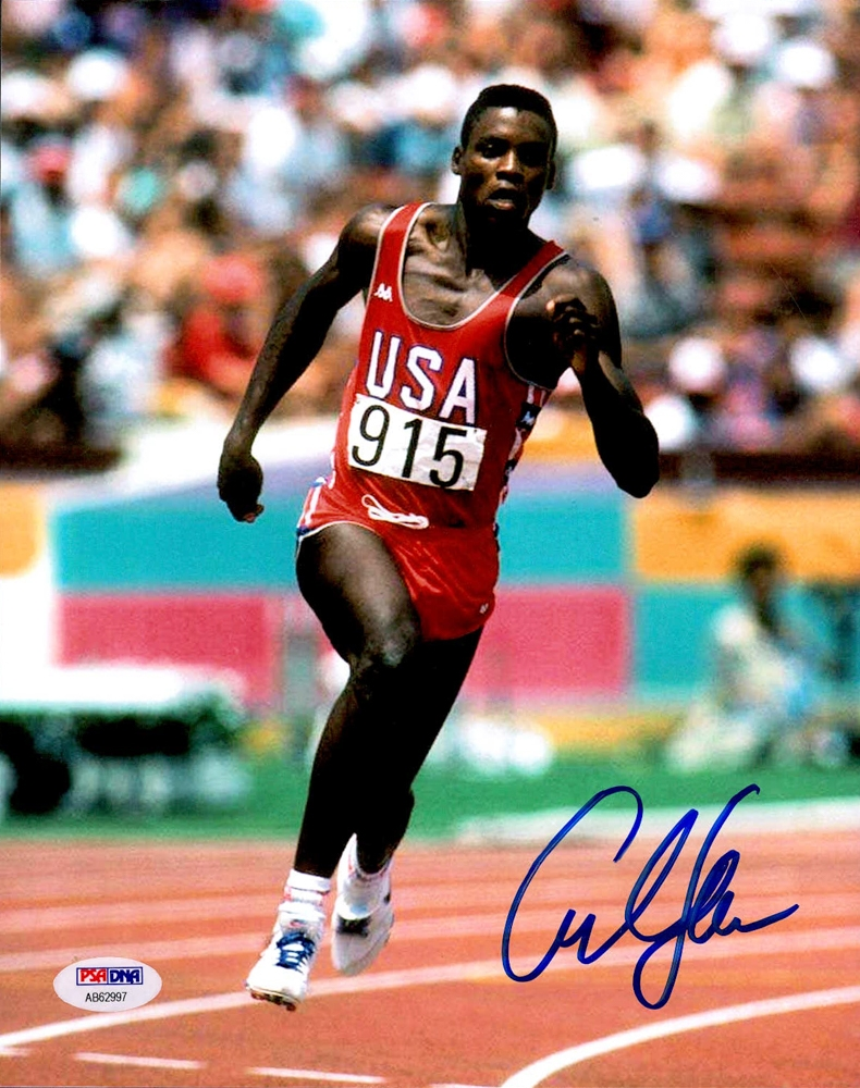 Carl Lewis Signed Team USA 8x10 Photo (PSA COA) at PristineAuction.com