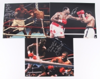 "Lot of (3) Signed Boxing 16x20 Photos with (1) James ""Buster"" Douglas, (1) Larry Holmes & (1) Roy Jones Jr. (Schwartz COA)"