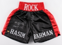 "Hasim Rahman Signed Boxing Shorts with Inscribed ""2x Heavyweight Champ!"" (MAB Hologram)"