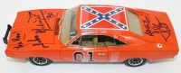 "Tom Wopat & John Schneider Signed ""General Lee"" Dukes of Hazzard 1:18 Die Cast Car with (4) Inscriptions (JSA COA)"