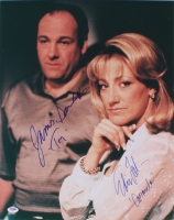 "James Gandolfini & Edie Falco Signed ""The Sopranos"" 16x20 Photo Inscribed ""Tony"" & ""Carmela"" (PSA LOA)"