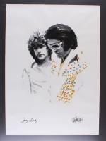 """Joe Petruccio - Jerry Schilling - Elvis Presley """"You'll Never Walk Alone"""" Signed Limited Edition 20"""" x 27.5"""" Fine Art Giclee on Canvas #25/25 (Petruccio COA & PA LOA)"""