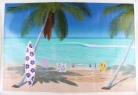 "Dan Mackin – ""The Beach Boys"" Brian Wilson ""Surfer Girl"" Signed Limited Edition 48.63"" x 34"" Fine Art Giclee on Canvas #19/500 (Mackin COA & PA LOA)"