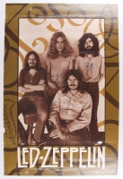 """Jimmy Page and Robert Plant Signed 23"""" x 34"""" Vintage Led Zeppelin Poster (JSA LOA)"""