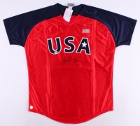 "Jennie Finch Signed Team USA Jersey Inscribed ""USA"" (Fanatics) at PristineAuction.com"
