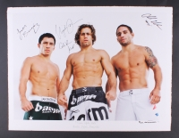 "Joseph Benavidez, Urijah Faber & Chad Mendes ""Team Alpha Male"" Signed 30.5"" x 23"" UFC Fine Art Giclee by Iconic Sports Photographer Eric Williams #6/30 (Beyond the Cage & PA LOA)"