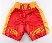 Leon Spinks Signed Boxing Shorts (MAB Hologram)