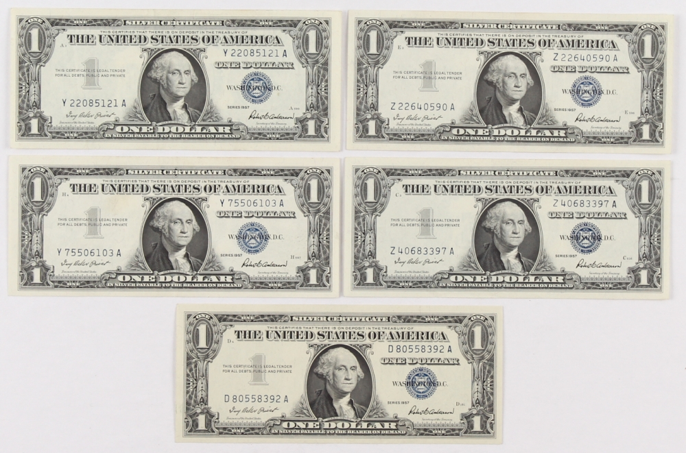 1 Dollar Bill Silver Certificate 1957 Value Best Design