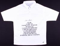 Ivan Lendl Signed Career Highlight Stat Tennis Shirt (MAB)
