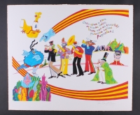 "Ron Campbell Signed Beatles Published Original Art ""Pepperland"" 26.25"" x 22.5"" on Fine Art Paper 1/1 (PA LOA)"