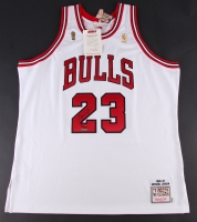 Michael Jordan Signed Limited Edition Bulls Authentic Mitchell & Ness Jersey #23/123 (UDA COA)
