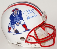 "Tom Brady Signed LE Patriots Throwback Full-Size Authentic Pro-Line Helmet Inscribed ""SB 49 MVP"" (Tristar Hologram & Steiner COA)"