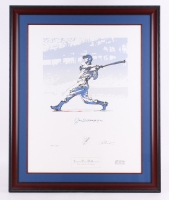 "Joe DiMaggio Signed LE 31.5"" x 39.5"" 'The Yankee Clipper' Custom Framed Serigraph Display (Signature One Series COA)"