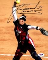 "Lisa Fernandez Signed Team USA 8x10 Photo Inscribed ""96, 00, 04"" (PSA COA)"