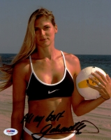 "Gabrielle Reece Signed 8x10 Photo Inscribed ""All My Best"" (PSA COA)"