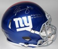 "Eli Manning Signed LE Giants Full-Size Authentic Pro-Line Speed Helmet Inscribed ""2x Super Bowl Champs"" & ""2x Super Bowl MVP"" (Steiner COA)"