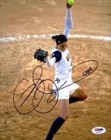 "Cat Osterman Signed USA 8x10 Photo Inscribed ""USA"" (PSA COA)"