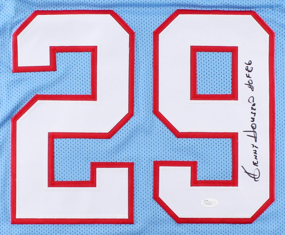 a74b1a0f582 Ken Houston Signed Oilers Jersey Inscribed