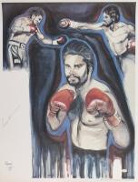 """Roberto Duran Signed LE 19"""" x 25"""" Lithograph (Hollywood Collectibles COA)"""