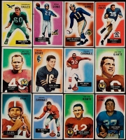 1955 Bowman Football Complete Set of (160) Cards with #152 Tom Landry, #1 Doak Walker, #71 Bobby Layne, #72 Y.A.Tittle, #52 Pat Summerly RC, #7 Frank Gifford