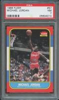 1986-87 Fleer #57 Michael Jordan RC (PSA 7)